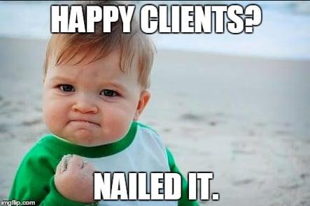 happy clients baby